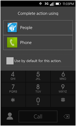 WP7.0.3 Ace Edition -  Screenshot from HTC Desire HD - Search contacts