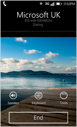 WP7.0.3 Ace Edition -  Screenshot from HTC Desire HD - End call