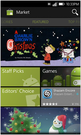 WP7.0.3 Ace Edition -  Screenshot from HTC Desire HD - Android Market