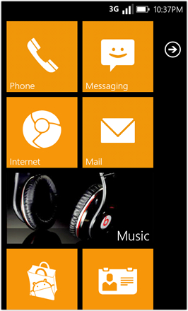 WP7.0.3 Ace Edition -  Screenshot from HTC Desire HD - Orange stock accent