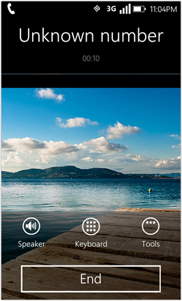 WP7.0.3 Ace Edition -  Screenshot from HTC Desire HD - Incoming call