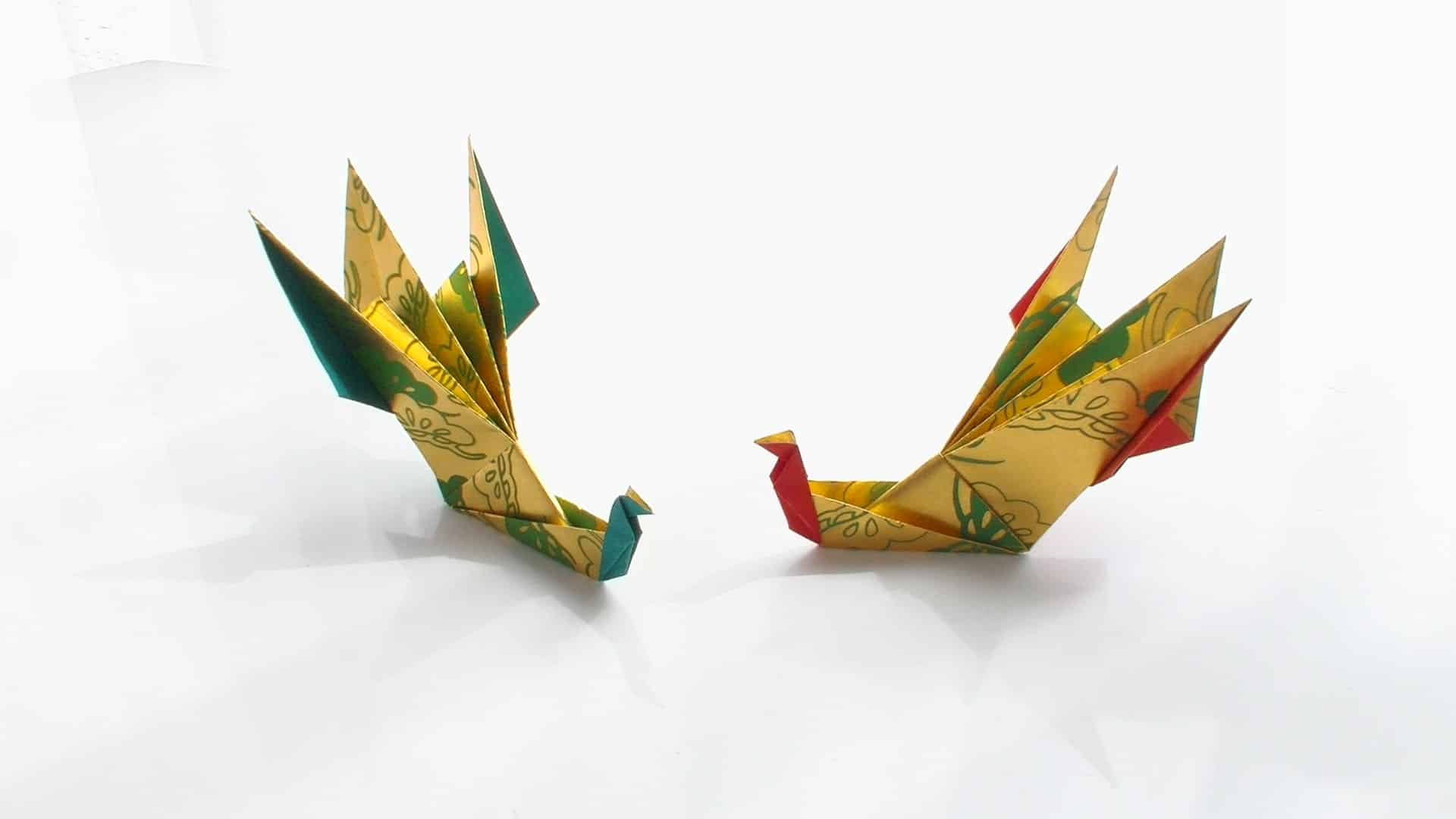 Origami floating cranes