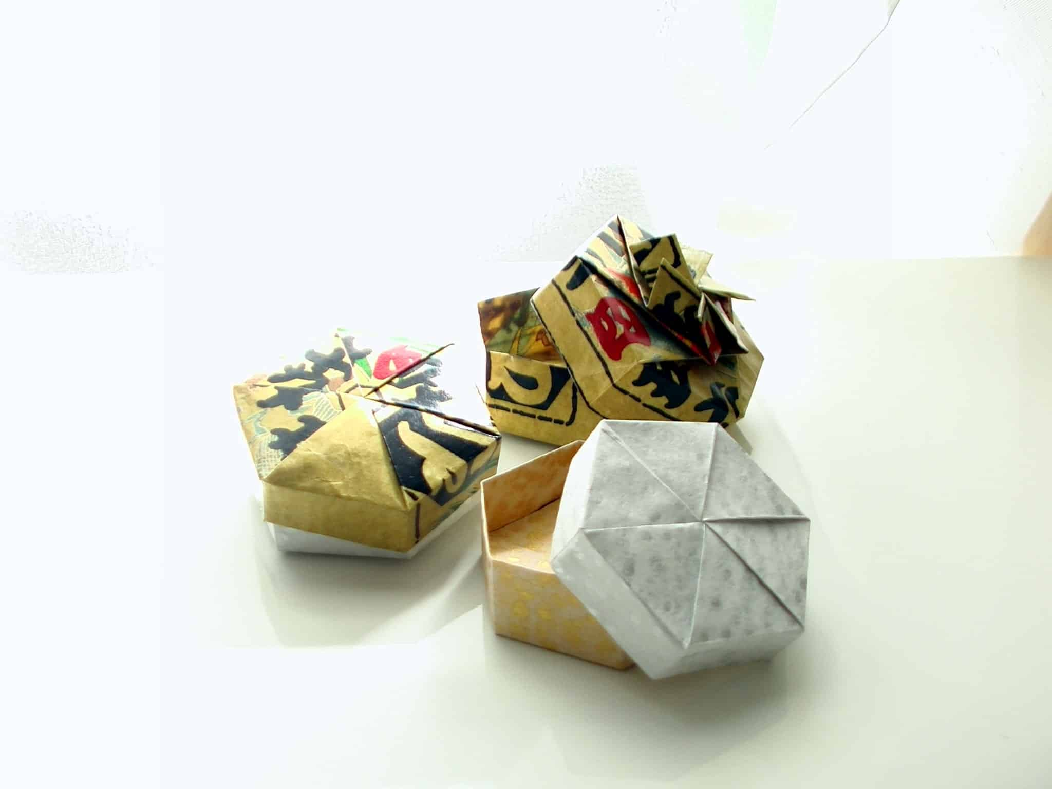 Origami jewelry boxes