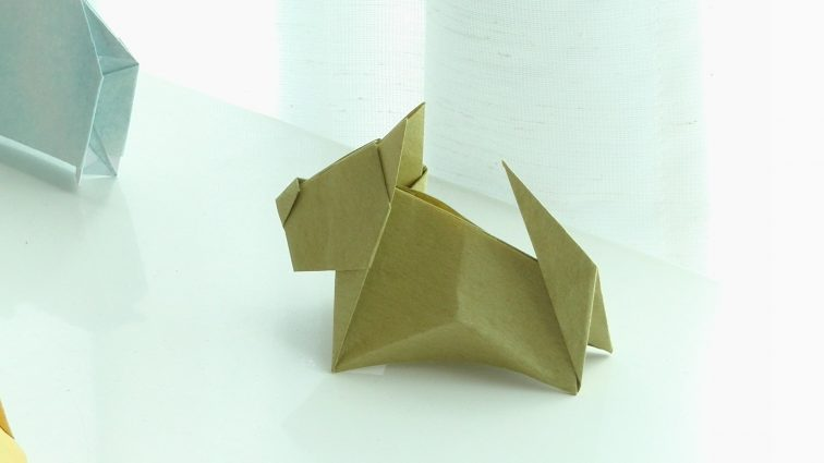 Origami Yorkshire terrier