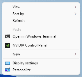 Show more options window