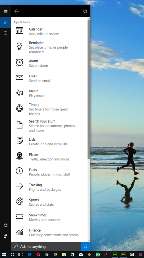 Things Cortana can help you do