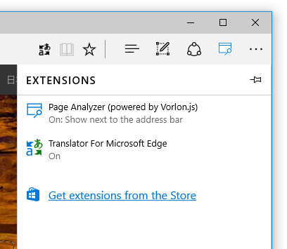 Microsoft Edge Get Extensions