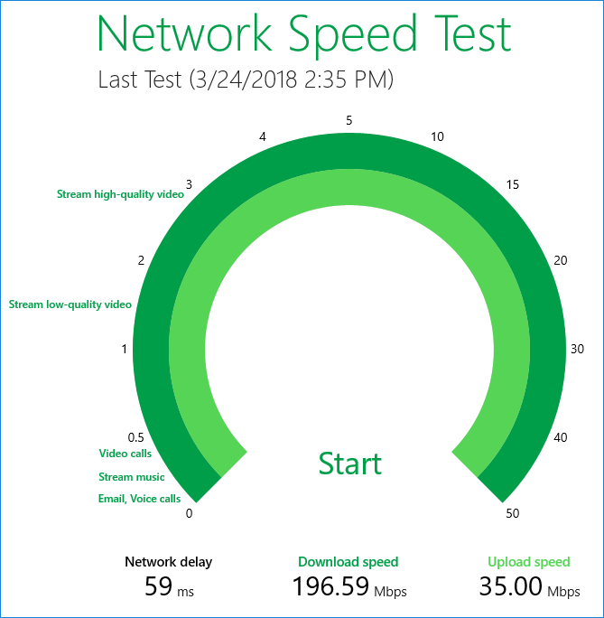 Network Speed Test - Tools for Windows 10
