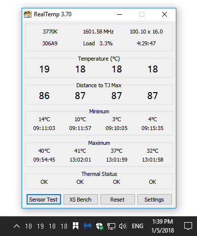 RealTemp - Tools for Windows 10