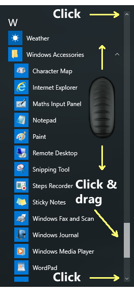 Windows 10 scrollbars how to image - Windows 10 tips for beginners
