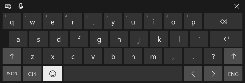 Windows 10 Touch keyboard